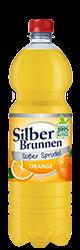 SilberBrunnen Süßer Sprudel Orange im9×1,0l-Kischtle